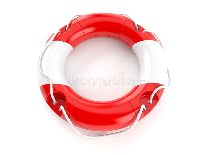 Life buoy with austrian flag. Isolated on white background. 3d illustration royalty free illustration