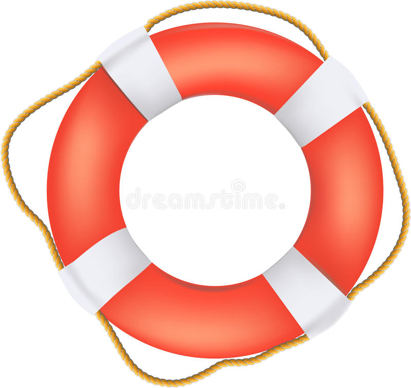 Life Buoy Preserver With Rope Stock Vector Illustration