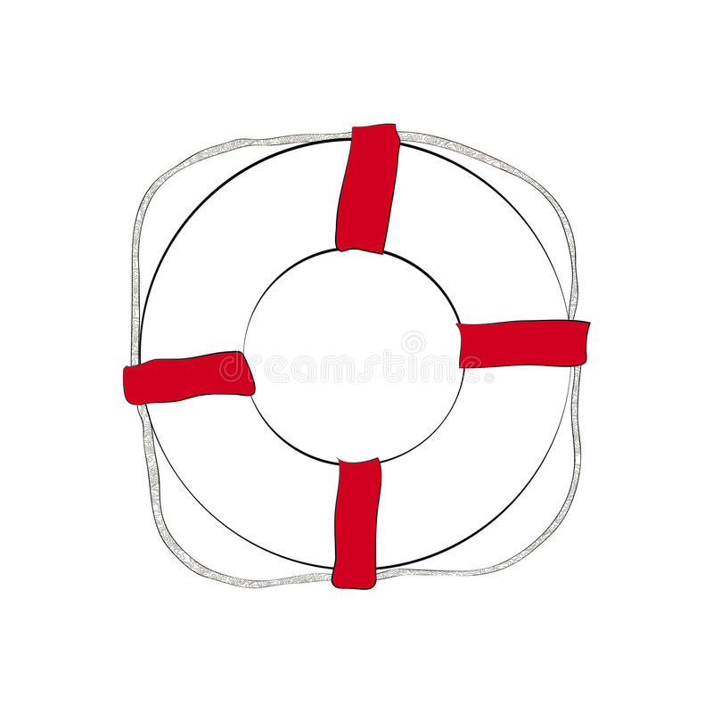 Download Life buoy sketch stock vector. Illustration of drawing - 32469021