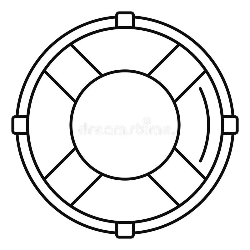 Life buoy solution icon, outline style vector illustration