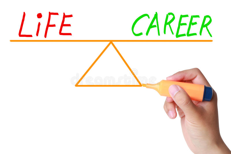 Life career balance royalty free stock images