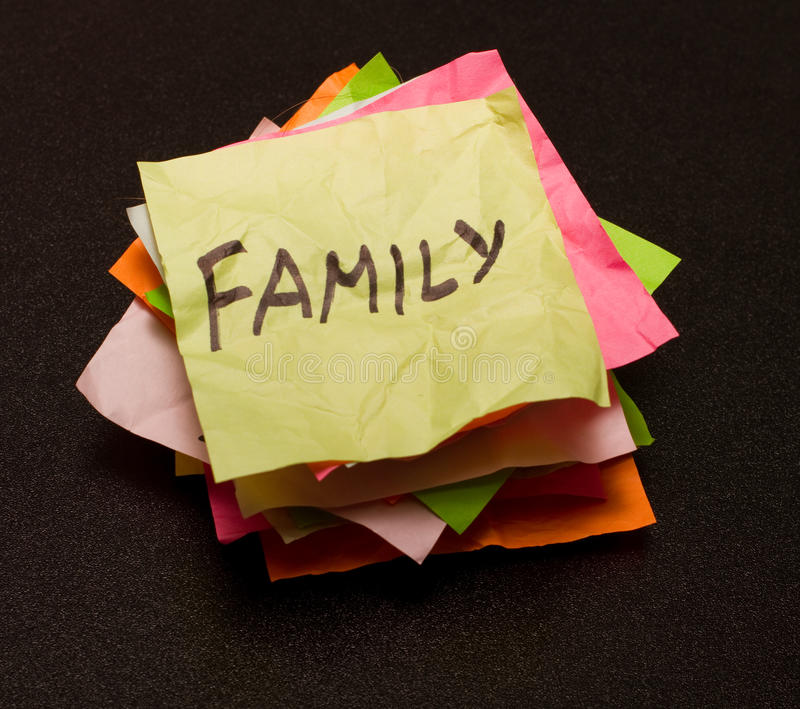Life choices - family stock photo