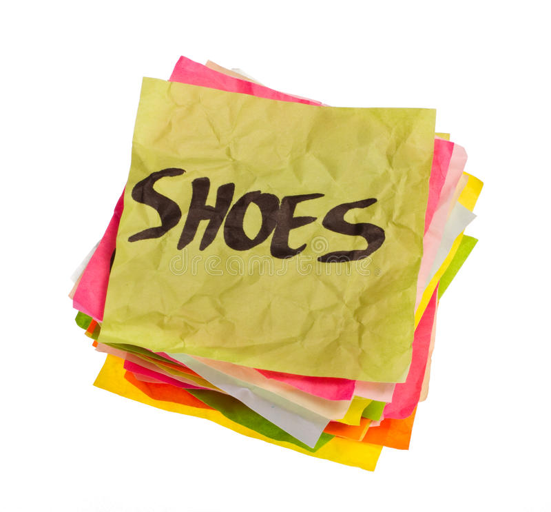 Life choices - making spending decisions - shoes stock photos