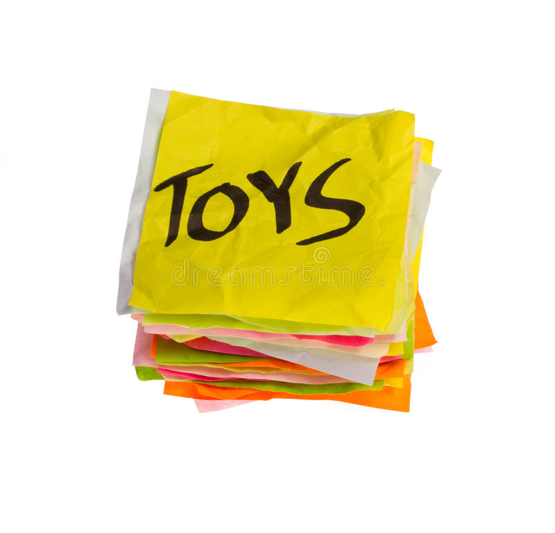 Life choices - making spending decisions - toys royalty free stock image