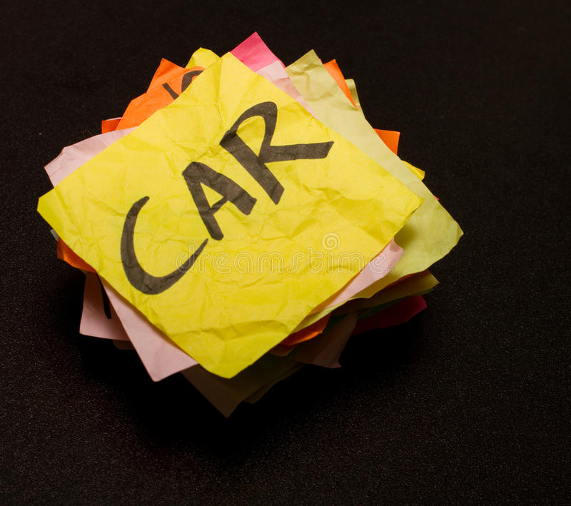 Download Life Choices - Spending Money On Cars Stock Image - Image of paper, words: 22984187