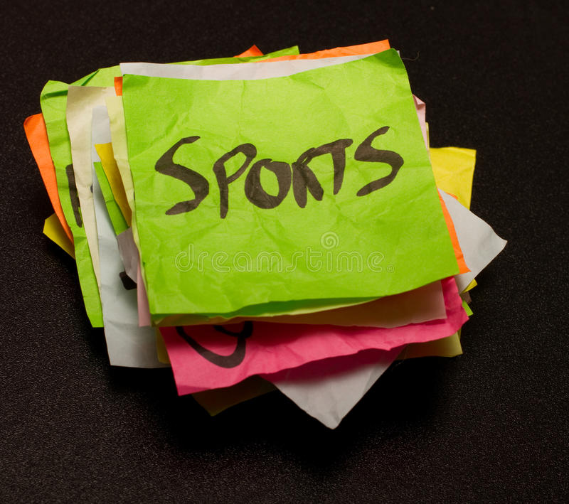 Life choices - spending money on Sports stock image