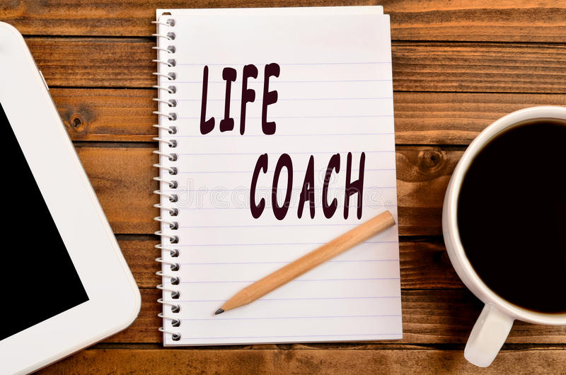 Life coach words stock images
