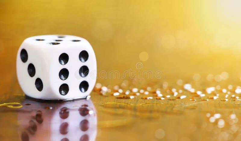Life coaching, success concept, dice stock photo