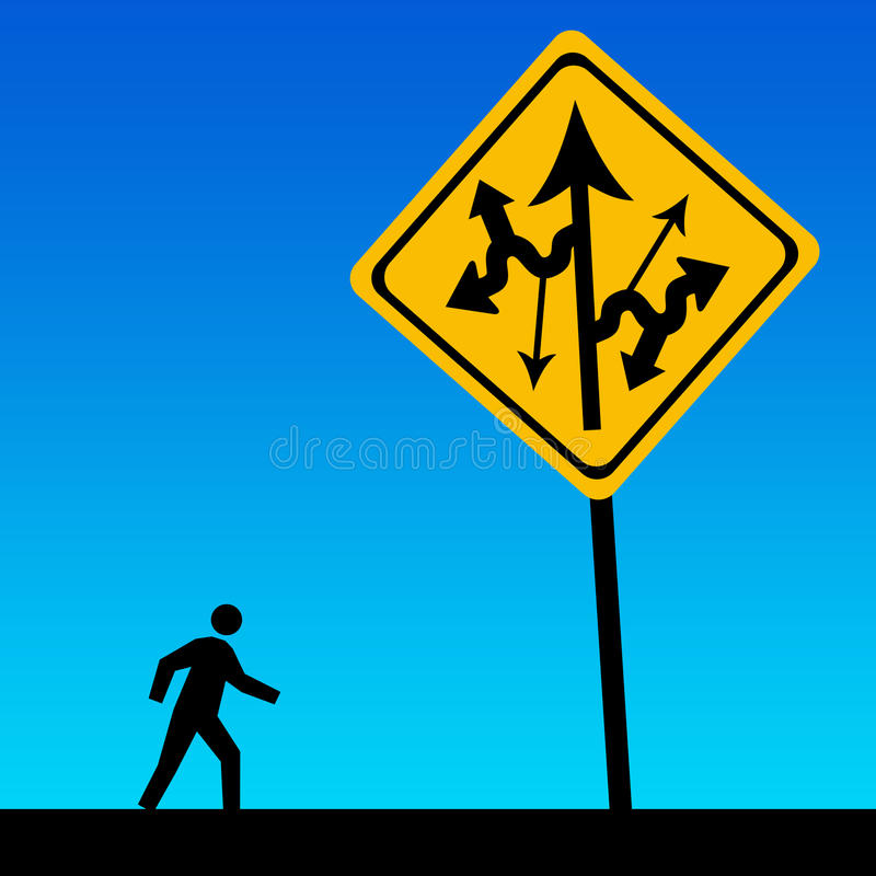 Download Life confusion stock illustration. Image of alternatives - 30377487