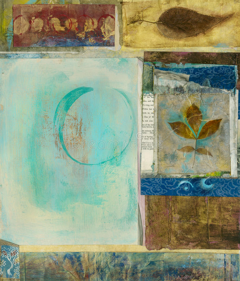 Free Life Cycle Abstract Painting Mixed Media Art Stock Photography - 15005262