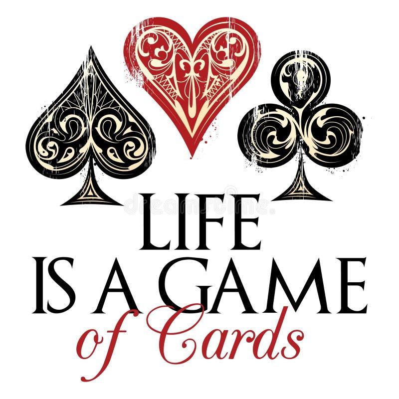 LIFE is een spel van kaarten royalty-vrije illustratie
