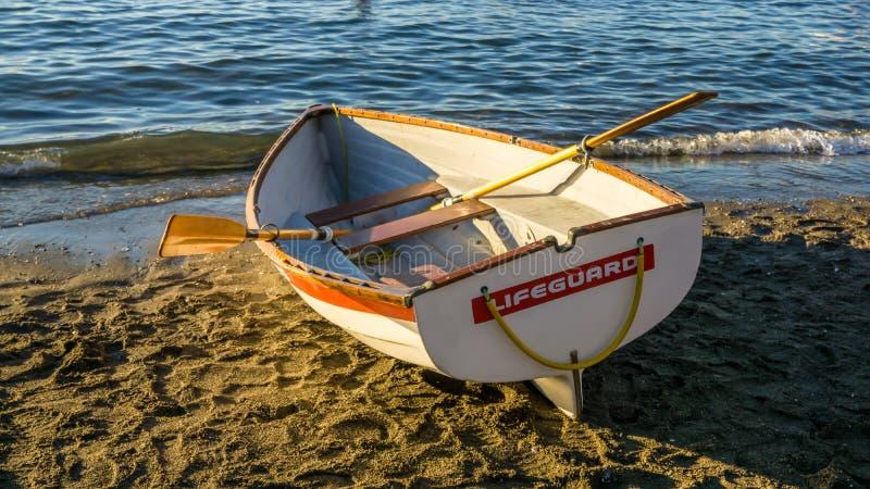 Life guard boat royalty free stock photo