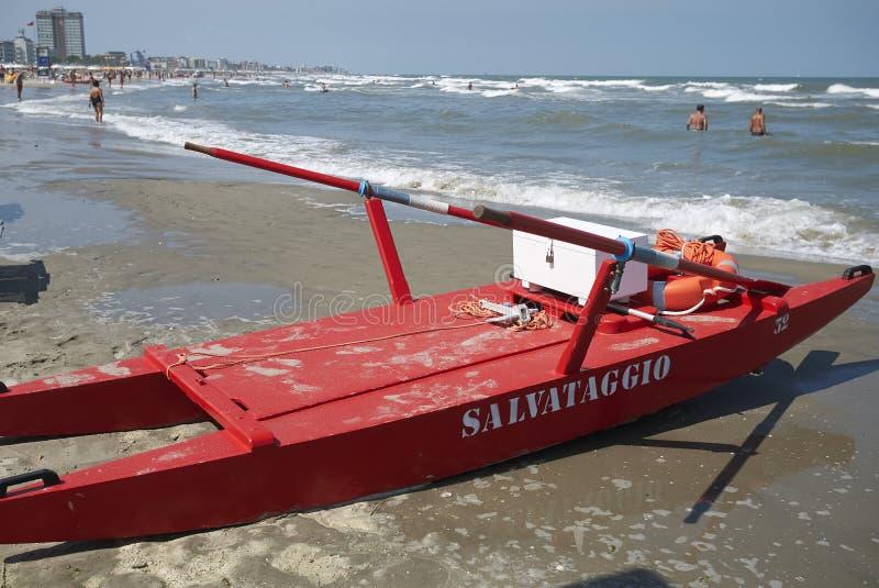 Life guard rescue boat stock photo