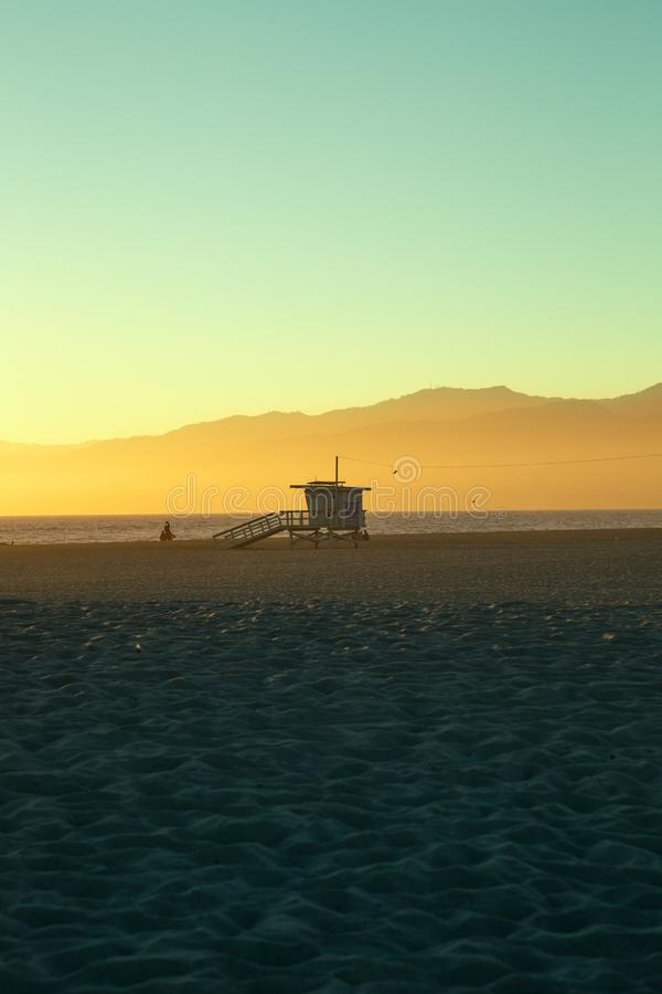 Life Guard Stand on Venice Beach Los Angeles royalty free stock images