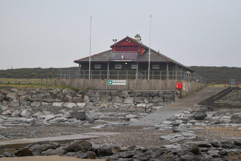 Life Guard station at Rest Bay royalty free stock photo