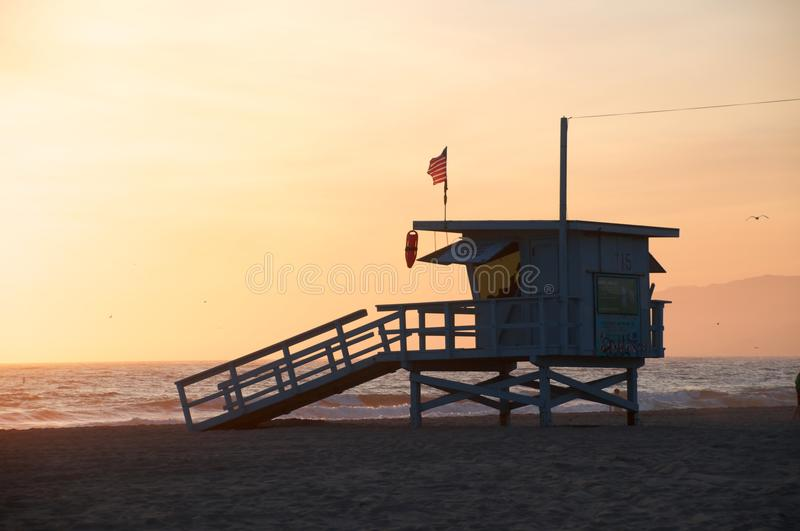 Download Life Guard Tower stock image. Image of sunset, life, california - 18943271