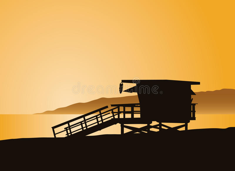 Download Life Guard Tower stock vector. Illustration of glow, sand - 20520247