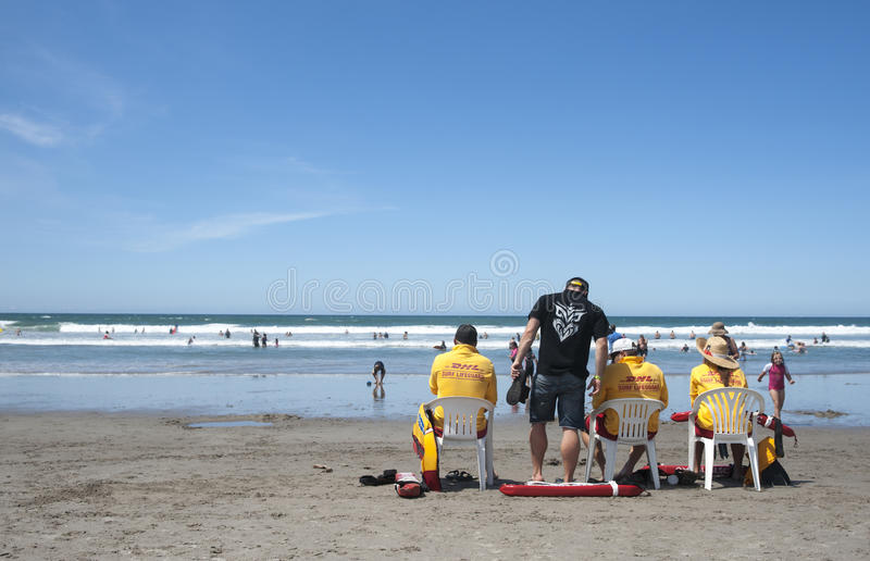 Download Life Guards Watch Swimmers Safety. Editorial Image - Image: 28489770