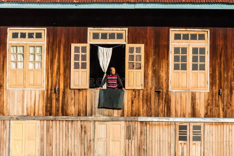 Life , inle lake in Myanmar (Burmar) royalty free stock image
