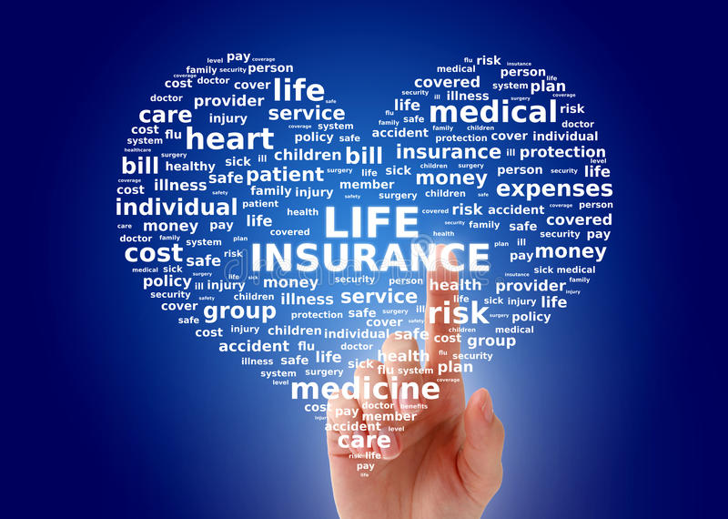 Life insurance collage. royalty free stock images