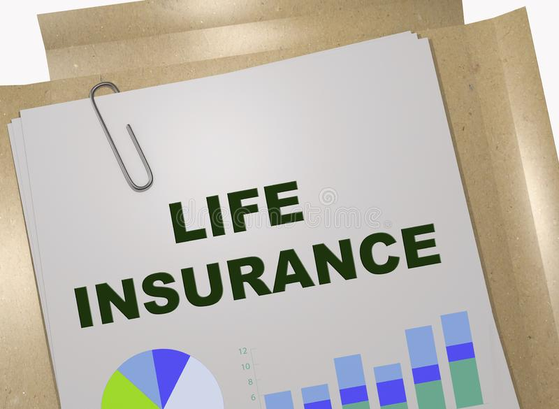 LIFE INSURANCE concept vector illustration