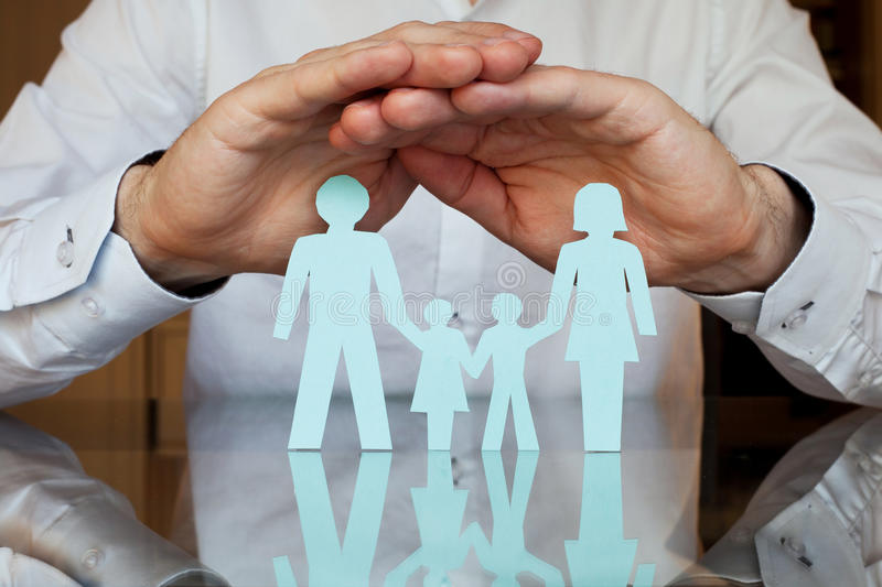 Life insurance. Family health and life insurance concept