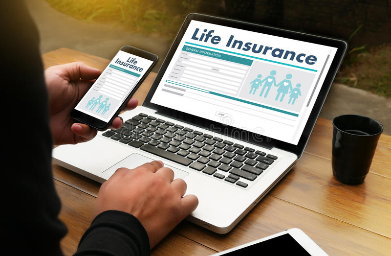 Life Insurance Medical Concept Health Protection Home House Car. Life royalty free stock photo