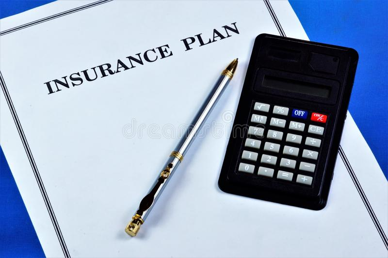 Life insurance plan, provides financial well-being of the family in life situations. Insurance policy personal document confirms. The conclusion of the contract stock photos