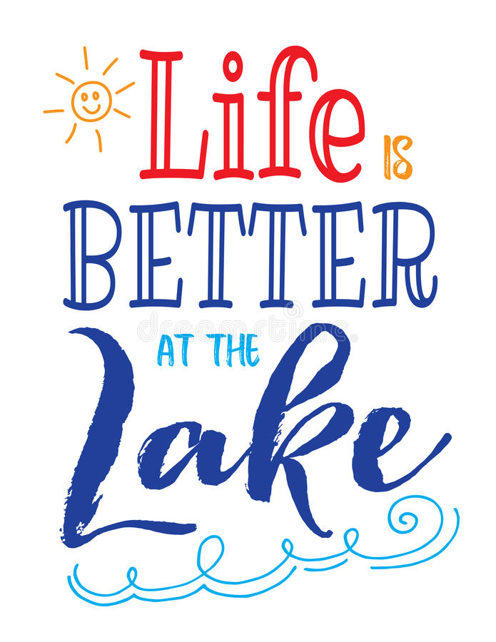Free Life Is Better At The Lake Stock Images - 95100984