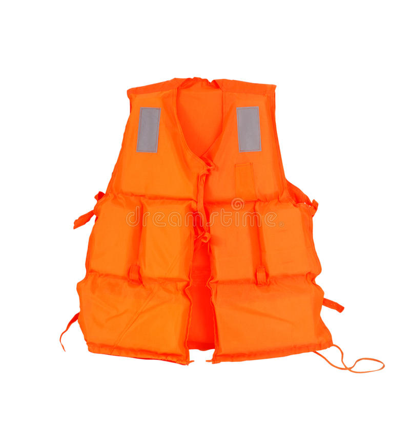 Life jacket. Life jacket on the white background stock photography