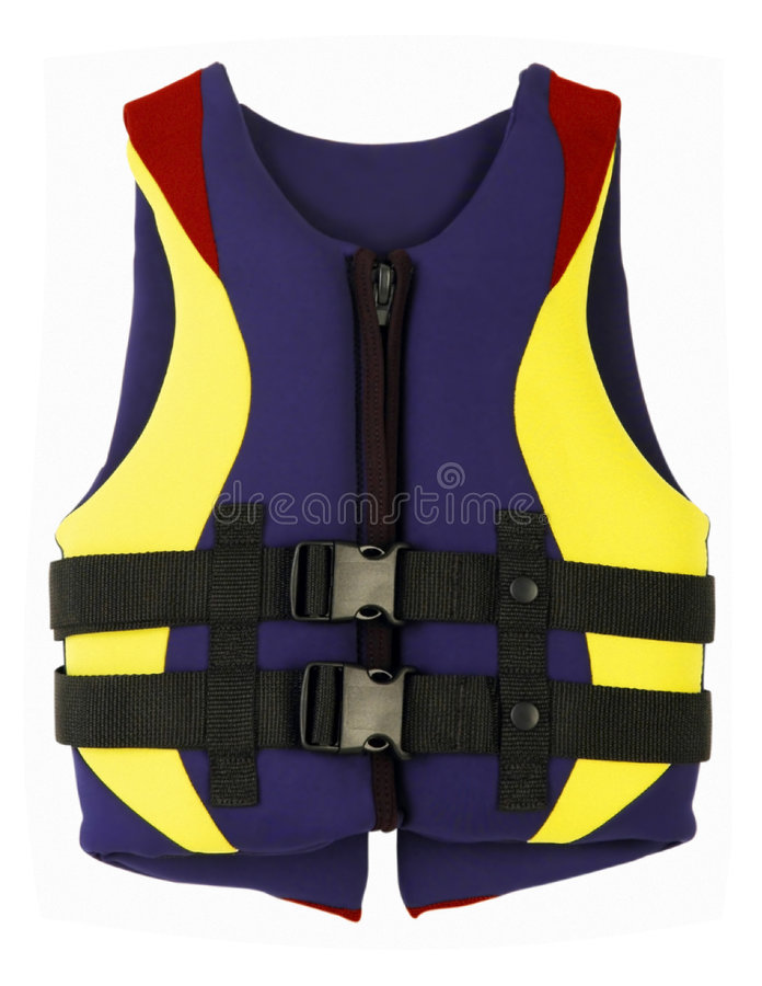 Life jacket. Isolated over white background stock photos