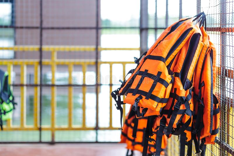 life jacket is important for life security in water. royalty free stock images