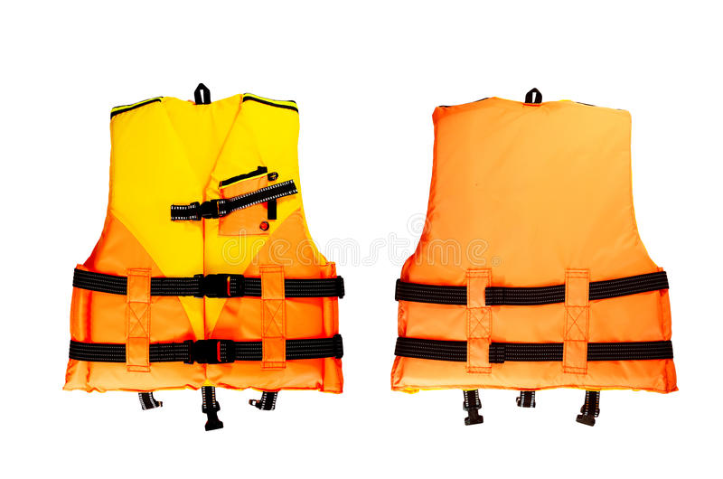 Life Jacket. Small life jacket on white background royalty free stock images