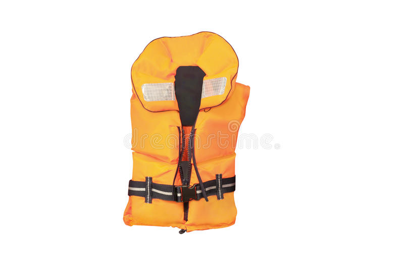 Life jacket. Under the white background stock images