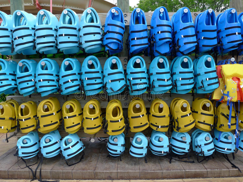 Download Life Jackets at Water Park editorial photography. Image of amusement - 24449667