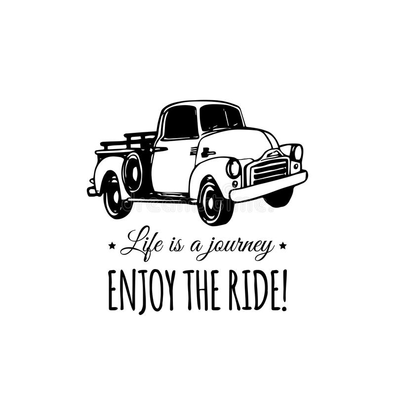 Life Is A Journey, Enjoy The Ride Motivational Quote With Old ...