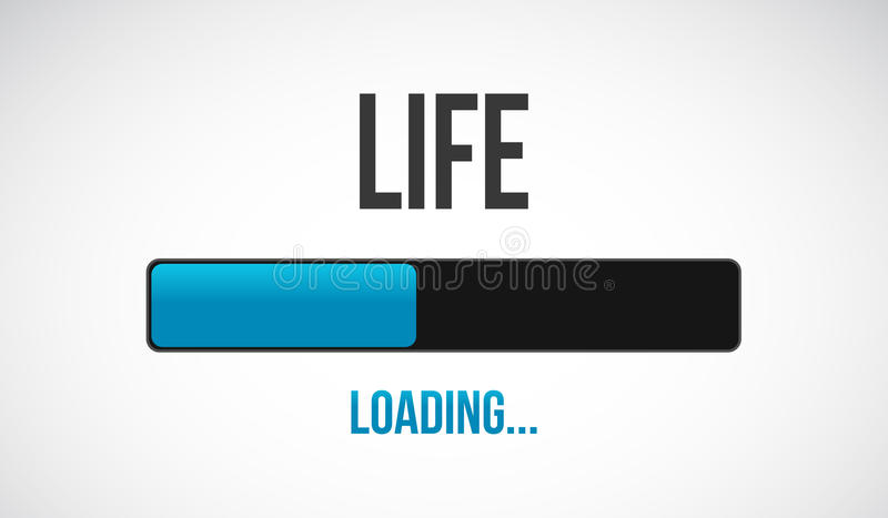 Life loading bar illustration design royalty free illustration