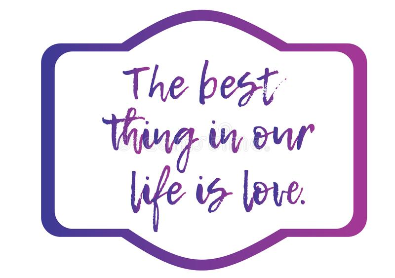 Life is love text in paper art style. Print, design element. Female fashion concept. Love concept. stock illustration