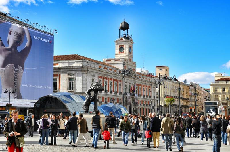 Life in Madrid royalty free stock photo