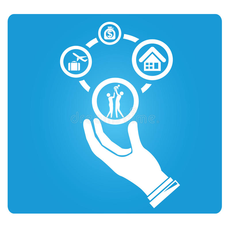 Life management vector illustration