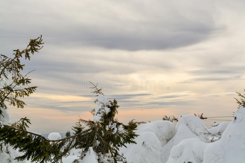 Colors clouds and winter royalty free stock photos