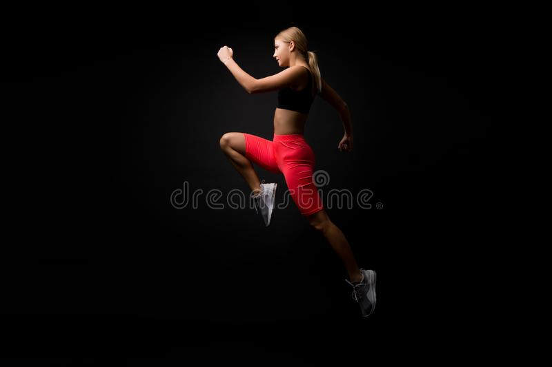 Life is motion. Woman athlete run achieve great result. How run faster. Speed training guide. Improve run speed. Girl stock images