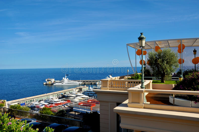 Life in Nice. The gardens , the sea , the picturesque landscape of Nice in the French Riviera sunshine . Nice , Cote d' Azur , France stock image