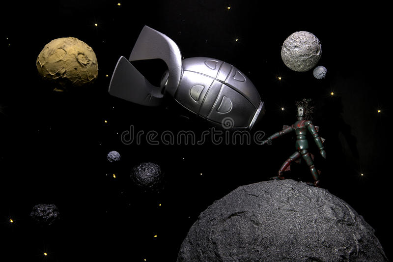 Life on other planets royalty free stock photo