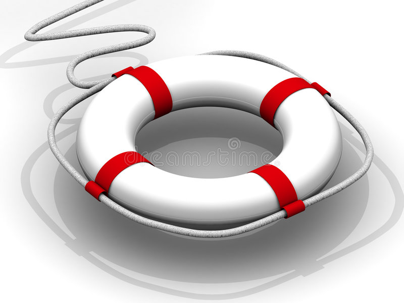 Life preserver for first help stock photo