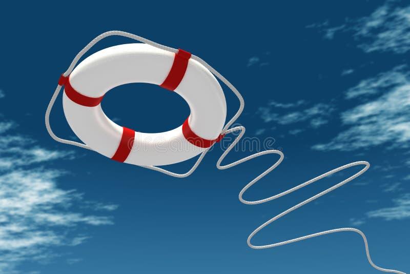 Download Life preserver in sky stock illustration. Illustration of ocean - 34955321