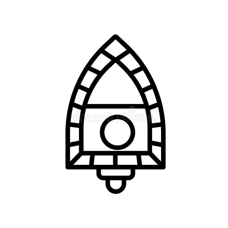 Life raft icon isolated on white background vector illustration