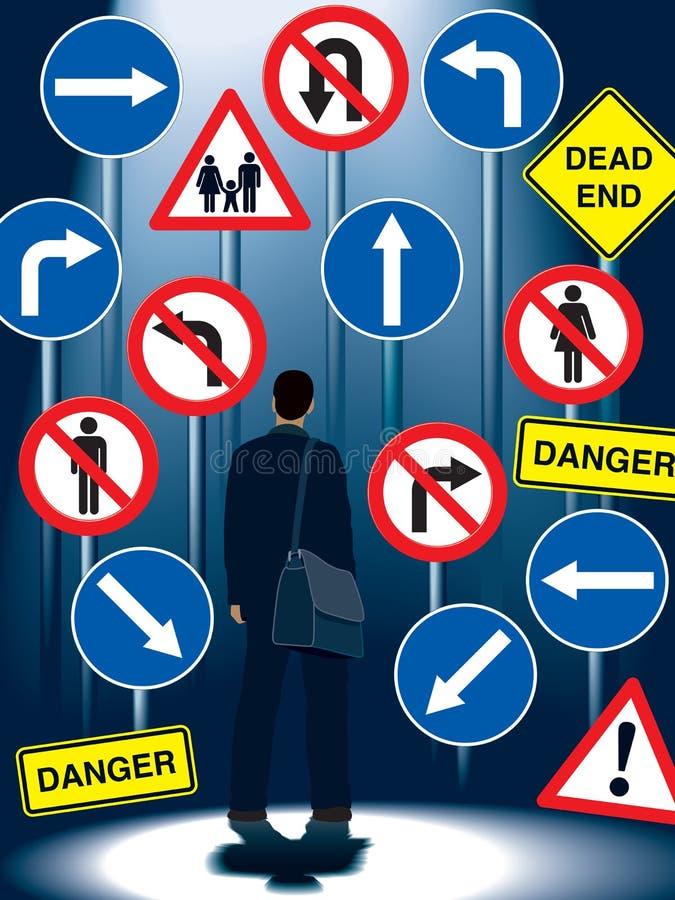 Life regulation signs vector illustration