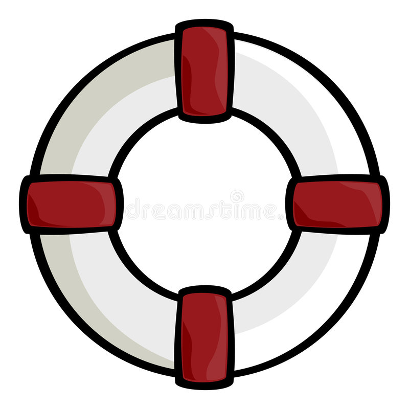 Download Life ring stock vector. Illustration of hold, drown, round - 4038118