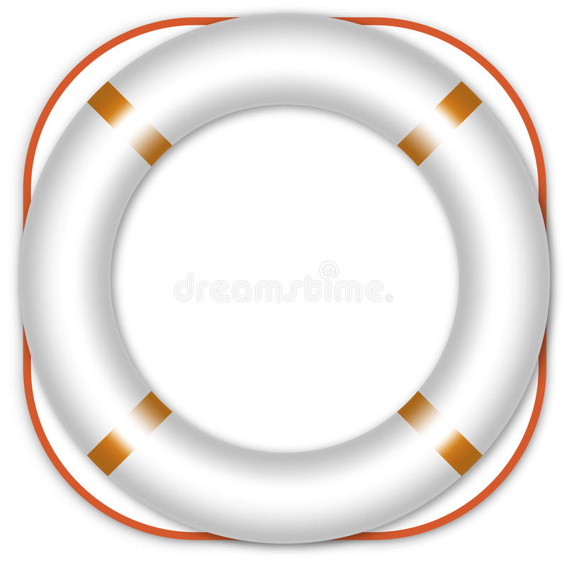 Download Life ring buoy stock vector. Image of beach, assistance - 13881987